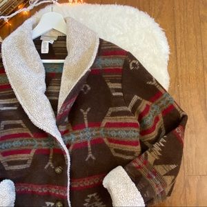 Coldwater Creek Jackets & Coats - Coldwater Creek Southwest Blanket Jacket Medium